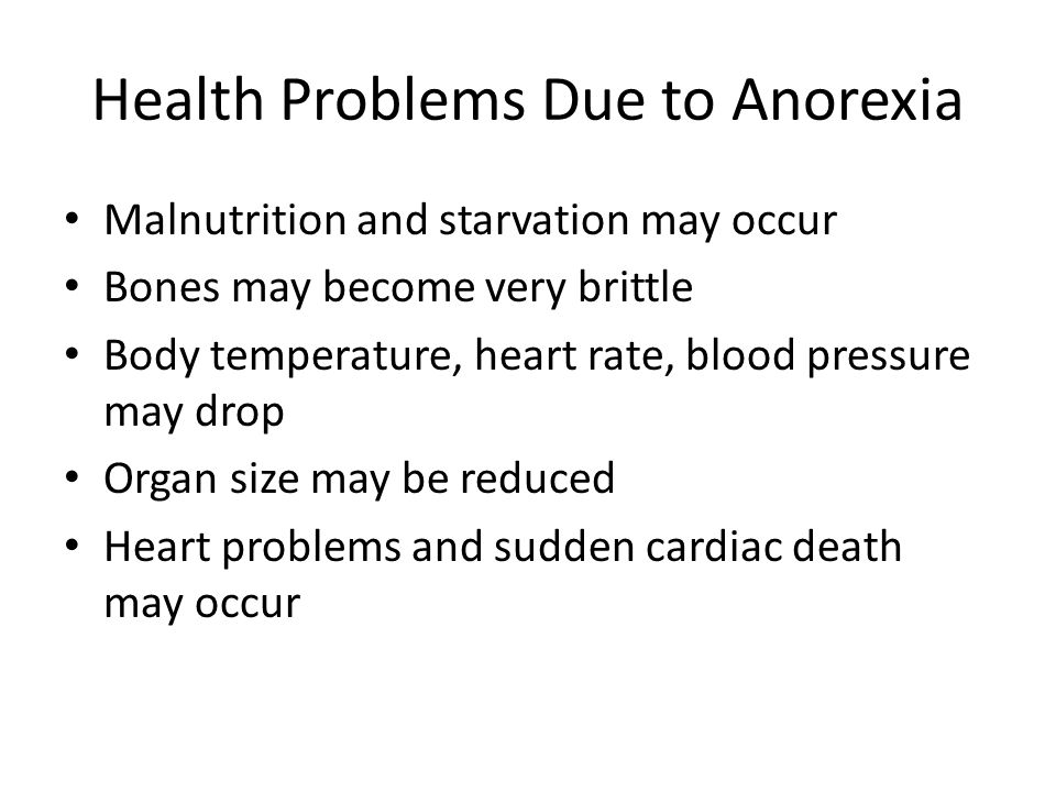 Health Problems Due to Anorexia