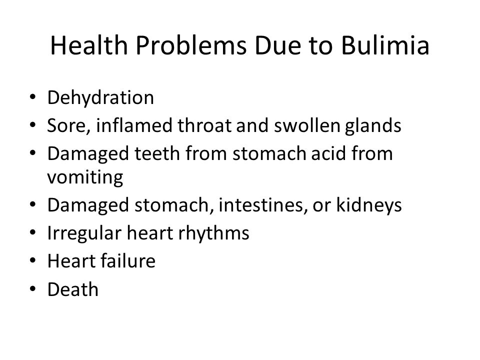Health Problems Due to Bulimia