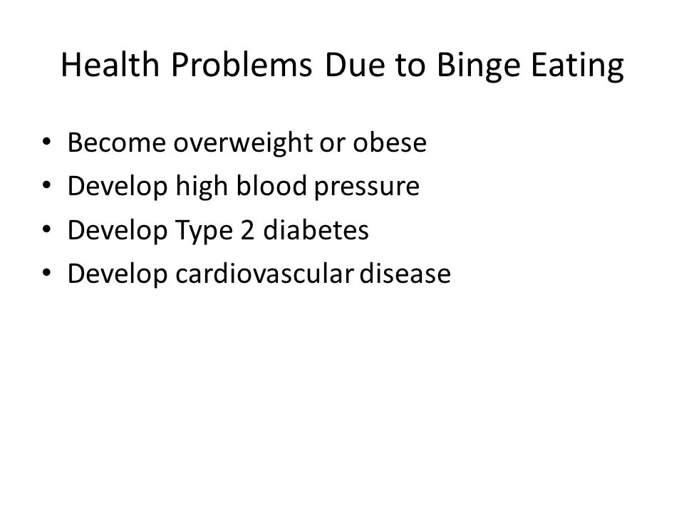 Health Problems Due to Binge Eating