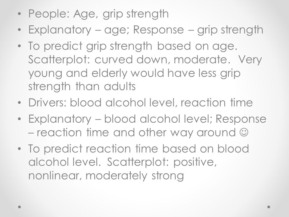 People: Age, grip strength