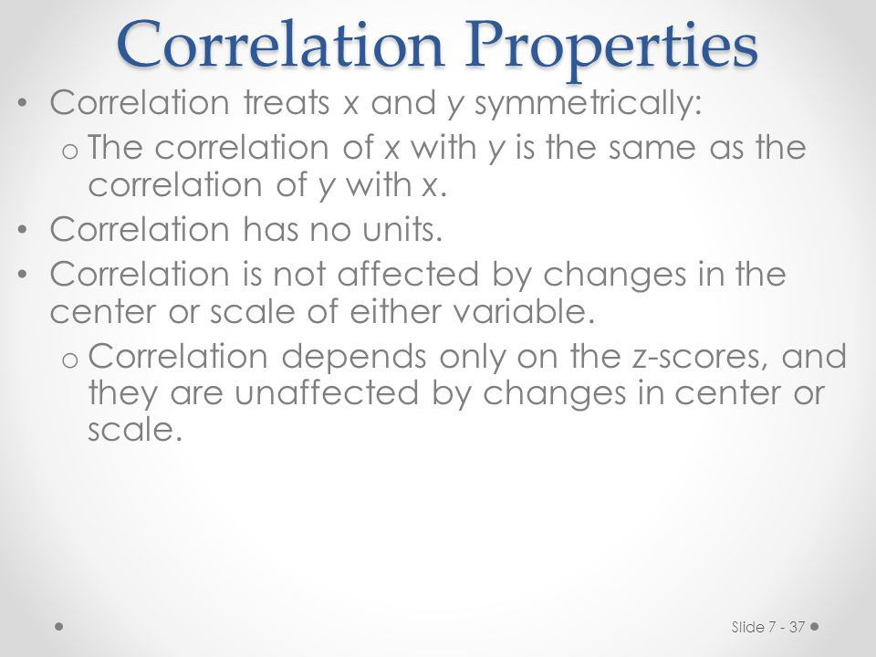 Correlation Properties