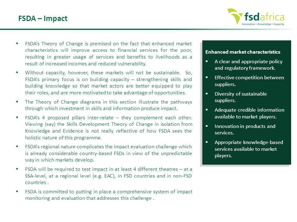 FSDA – Impact