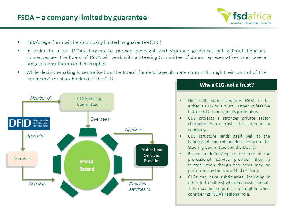 FSDA – a company limited by guarantee