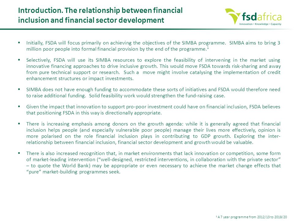 relationship between market structure and financial development