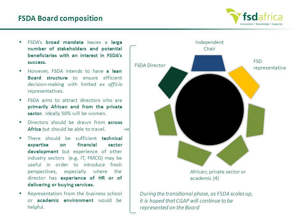 FSDA Board composition