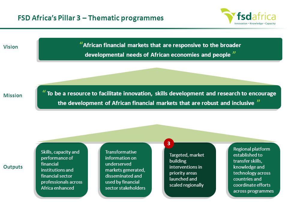 FSD Africa's Pillar 3 – Thematic programmes