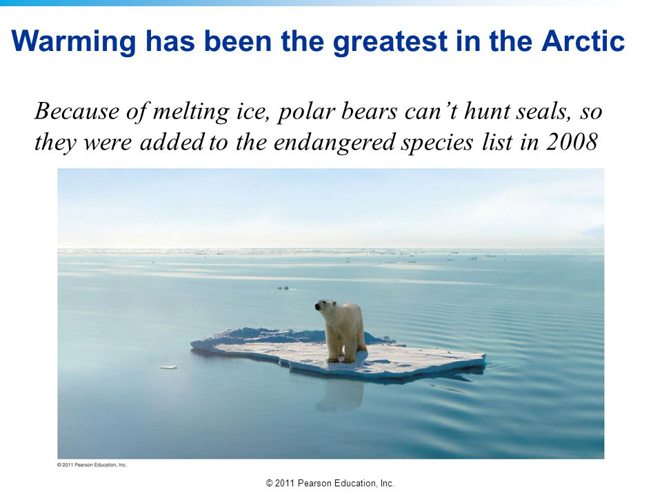 Warming has been the greatest in the Arctic