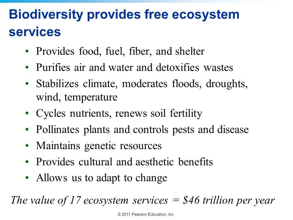 Biodiversity provides free ecosystem services