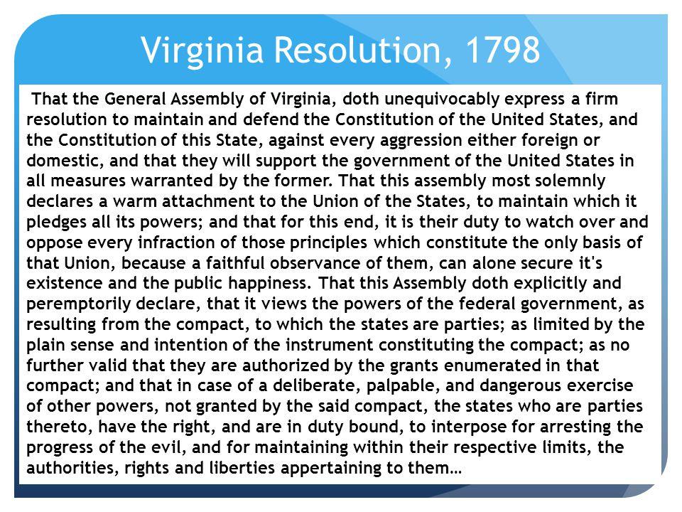 Virginia Resolution, 1798