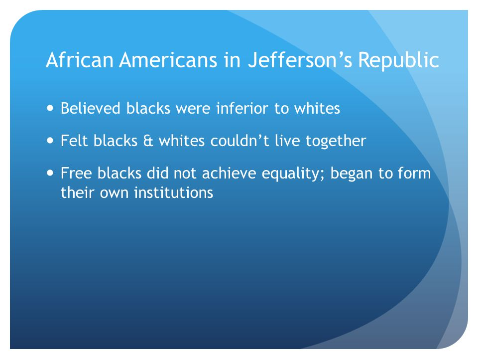 African Americans in Jefferson's Republic
