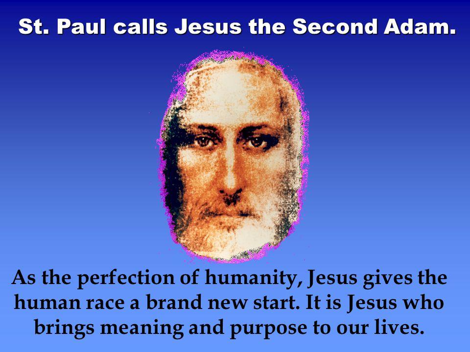 St. Paul calls Jesus the Second Adam.