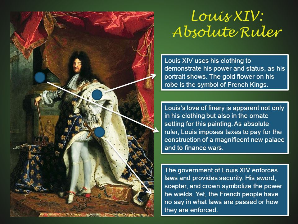 how absolute was the power of louis xiv Louis xiv assimilated of the ideologues of the absolute monarchy, such as bossuet, the divine conception of regal power the king considered is the executor of the will of god on earth deeply steeped in these convictions and having assumed the duties involving, luis xiv strove hard to extend his power in all the borders of his kingdom and.