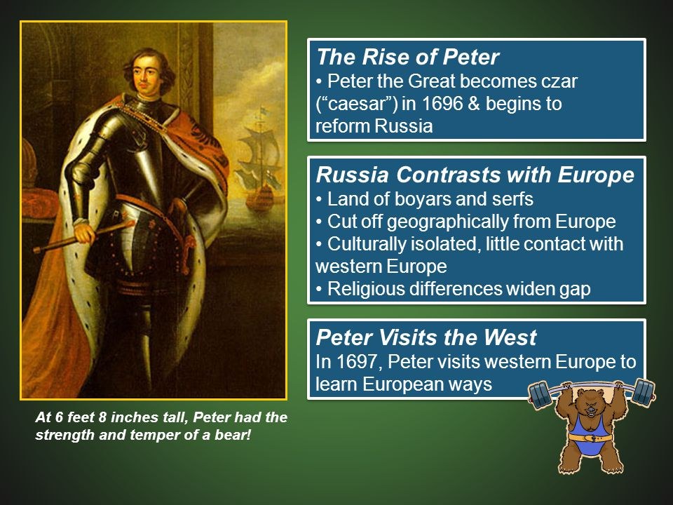 Russia Contrasts with Europe
