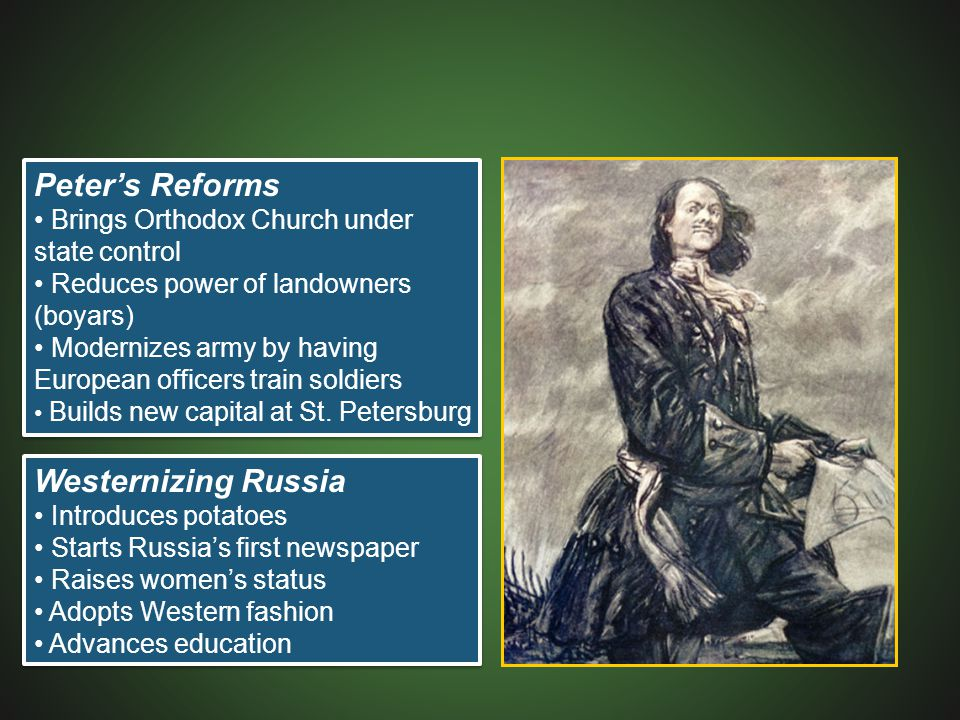 Peter's Reforms Westernizing Russia