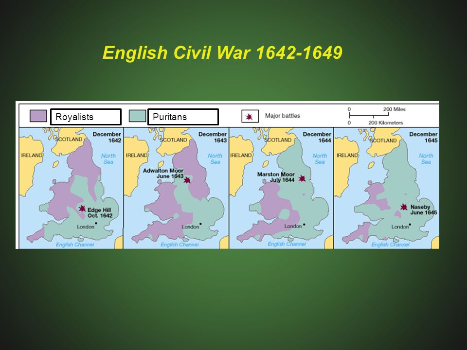English Civil War 1642-1649 Royalists Puritans