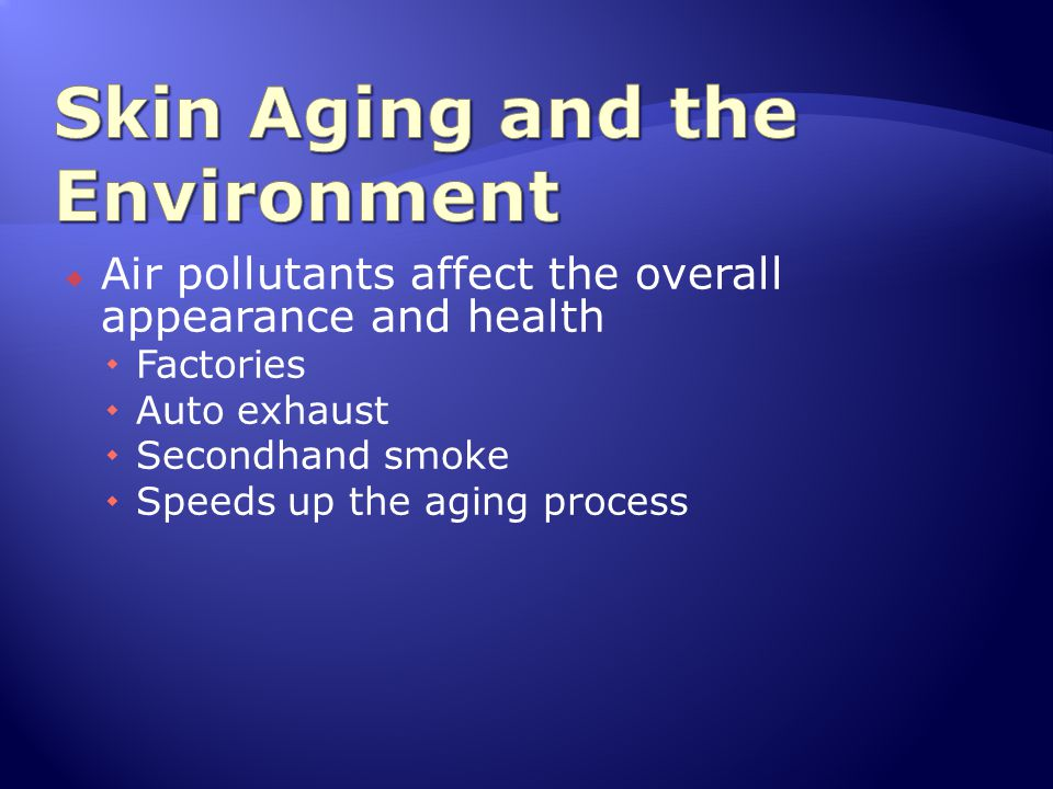 Skin Aging and the Environment