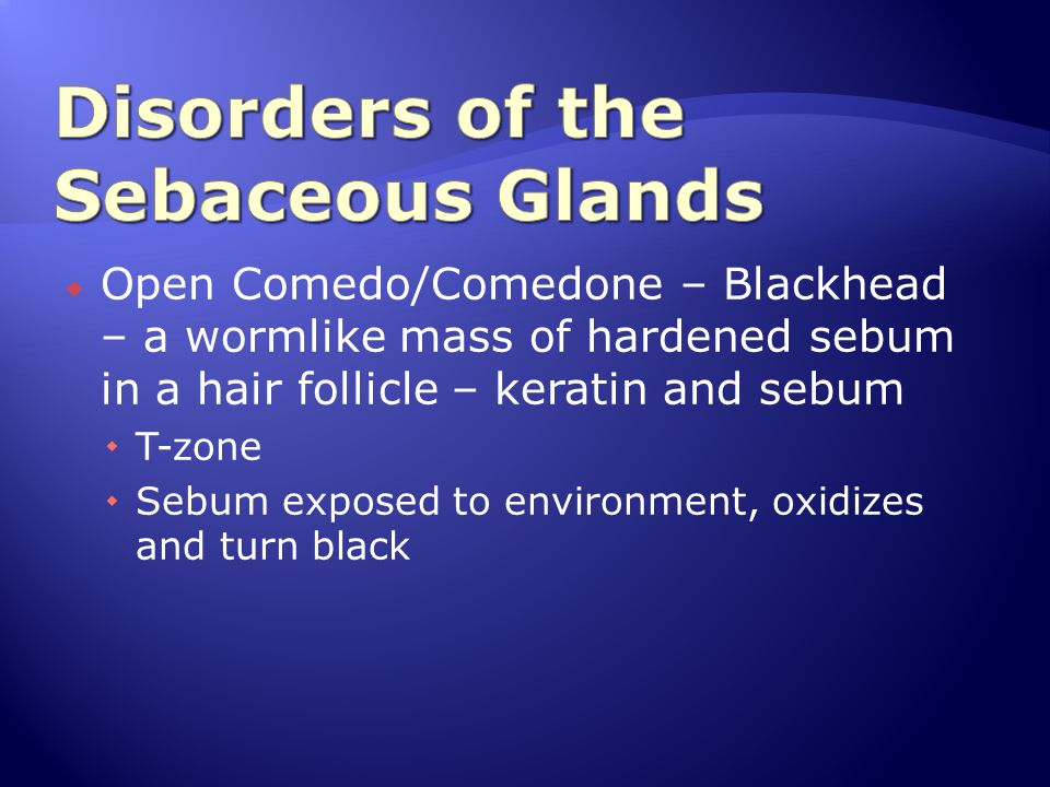 Disorders of the Sebaceous Glands