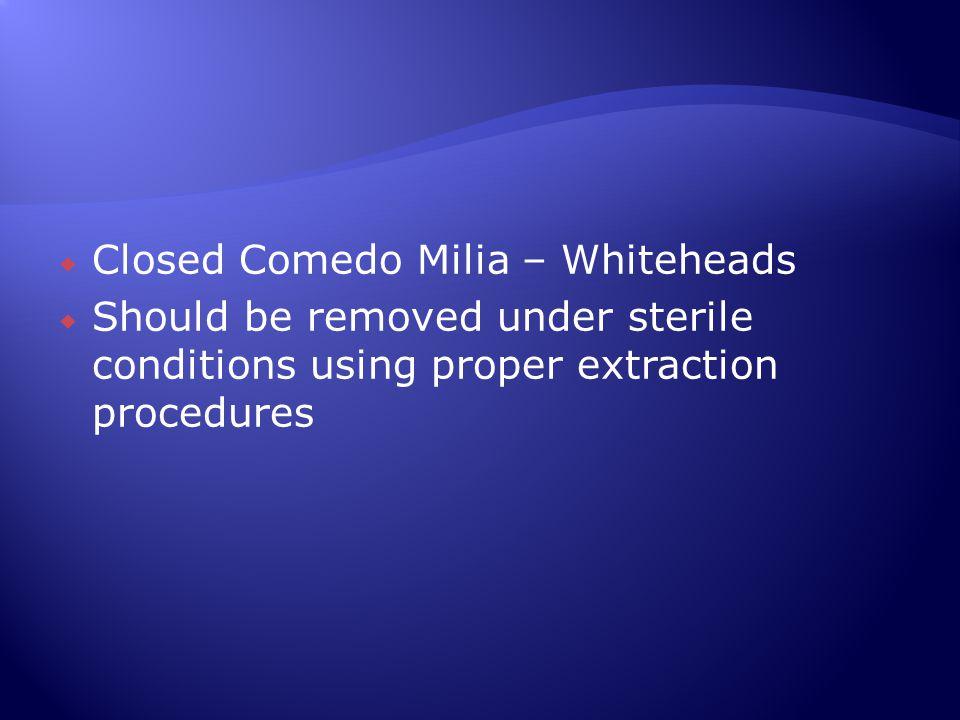 Closed Comedo Milia – Whiteheads