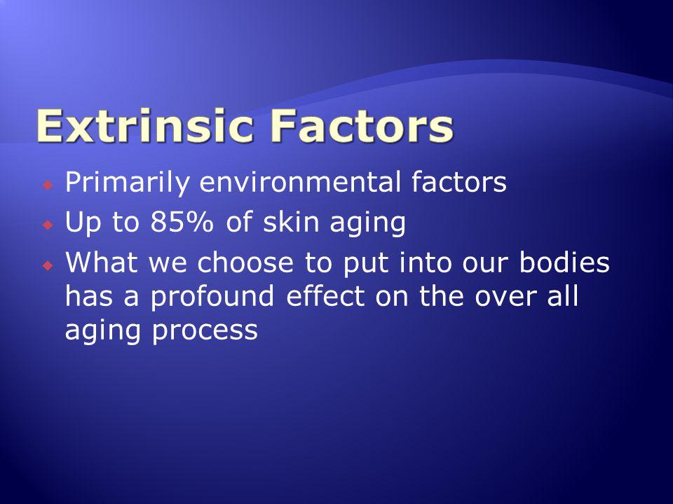 Extrinsic Factors Primarily environmental factors