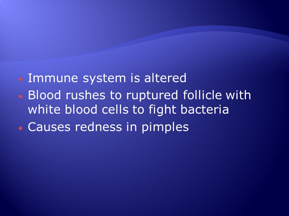 Immune system is altered