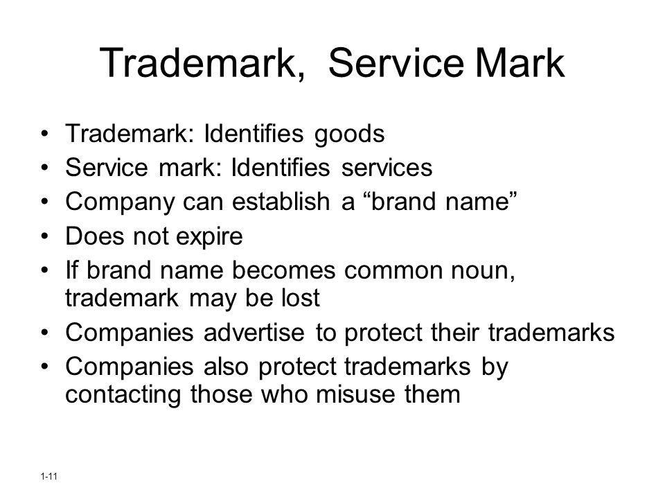 Trademark, Service Mark