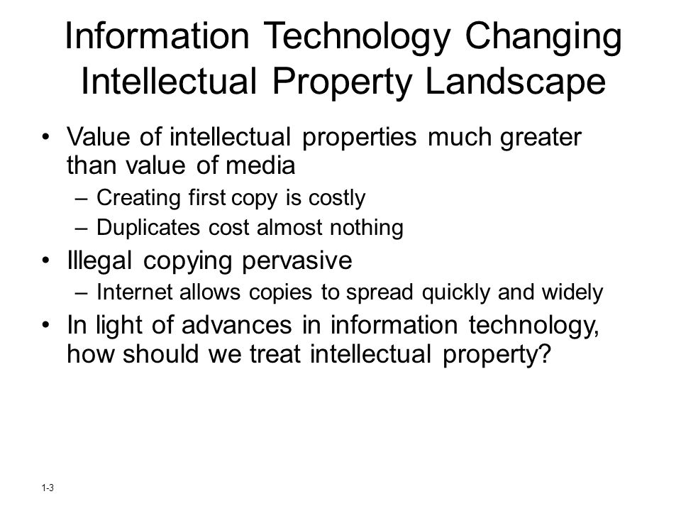 Information Technology Changing Intellectual Property Landscape