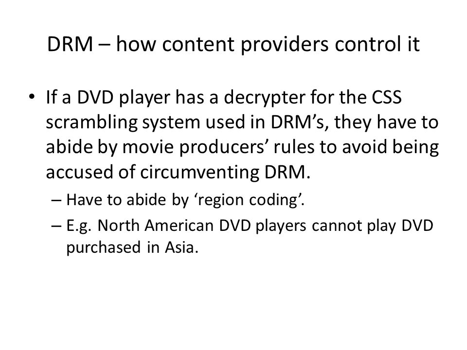 DRM – how content providers control it
