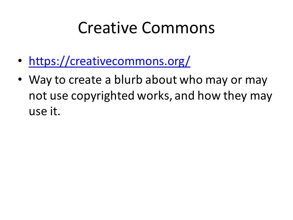 Creative Commons https://creativecommons.org/