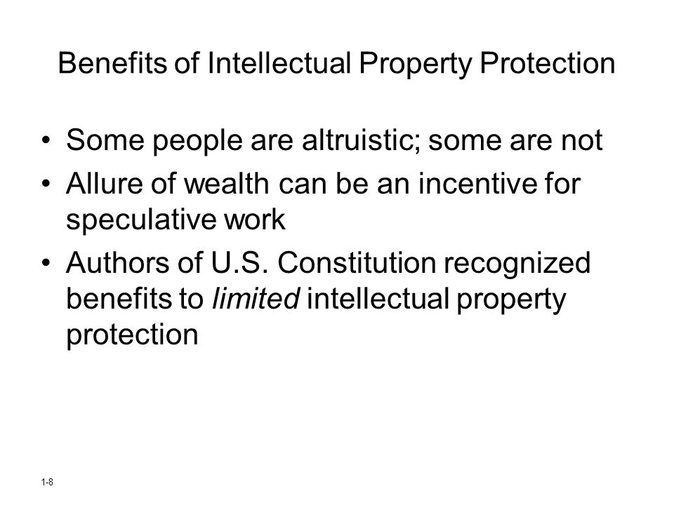 Benefits of Intellectual Property Protection