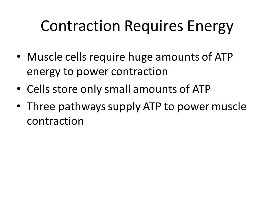 Contraction Requires Energy
