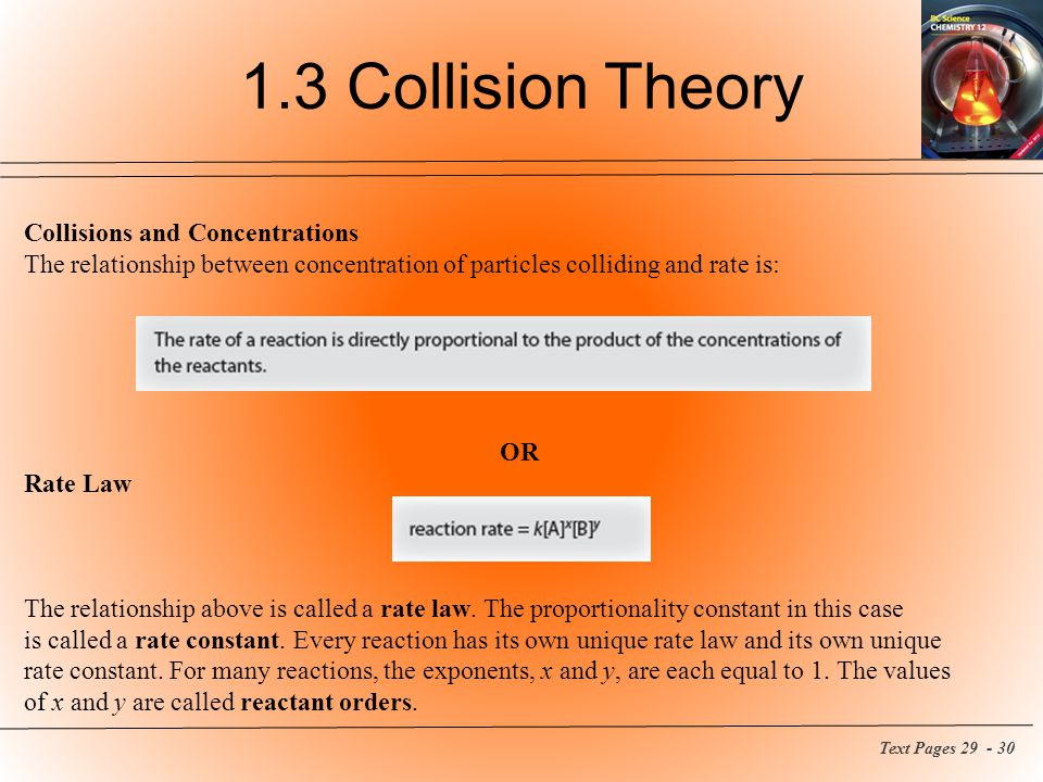 1.3 Collision Theory Collisions and Concentrations