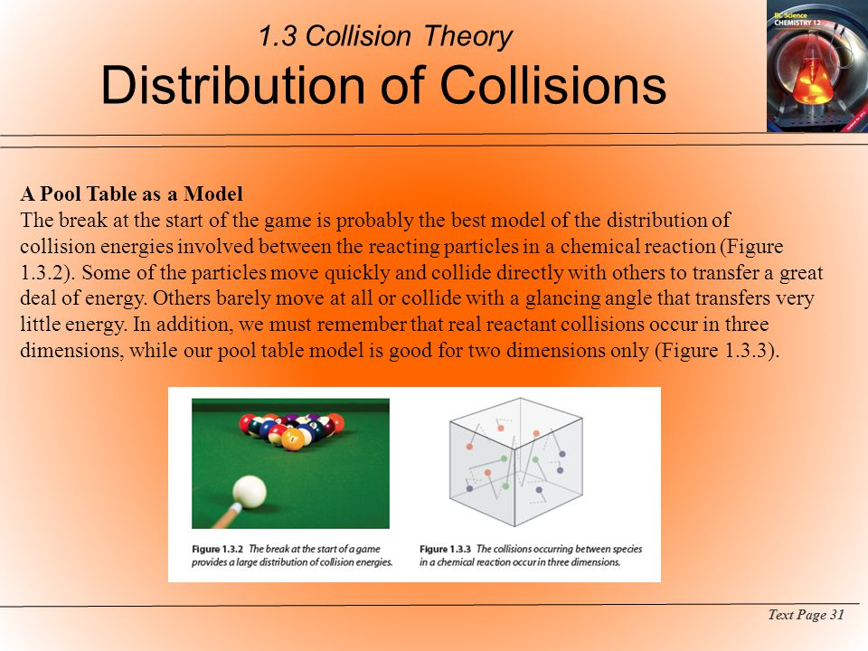 1.3 Collision Theory Distribution of Collisions