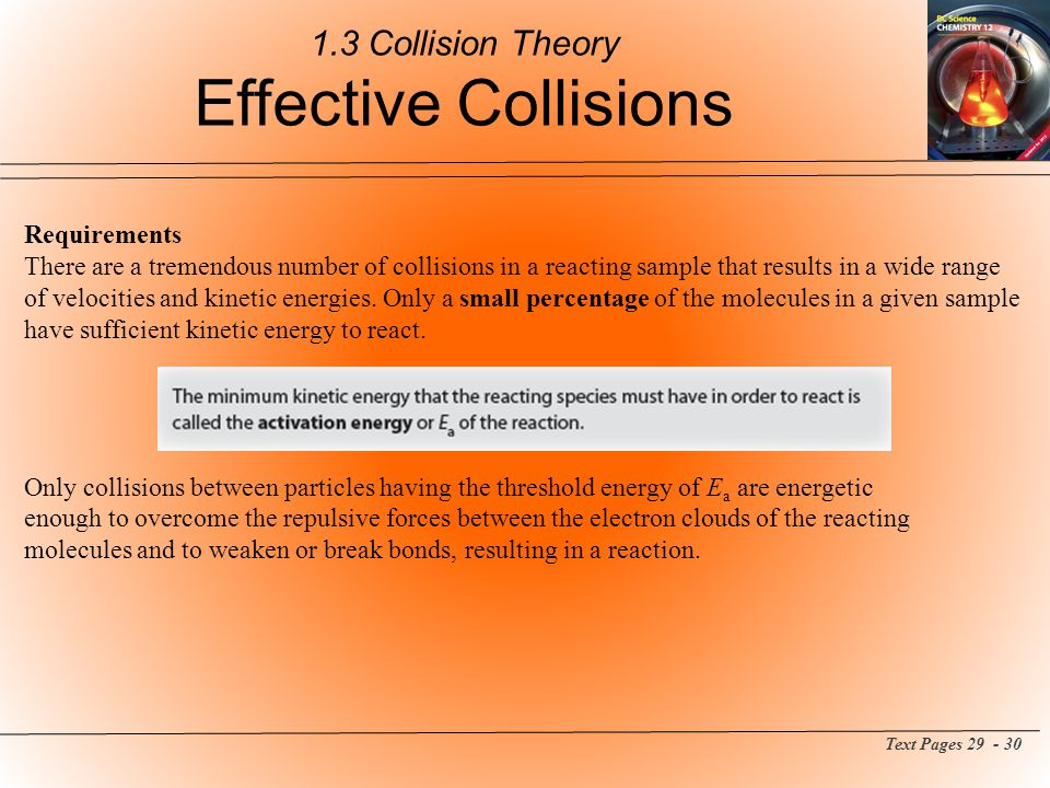 1.3 Collision Theory Effective Collisions