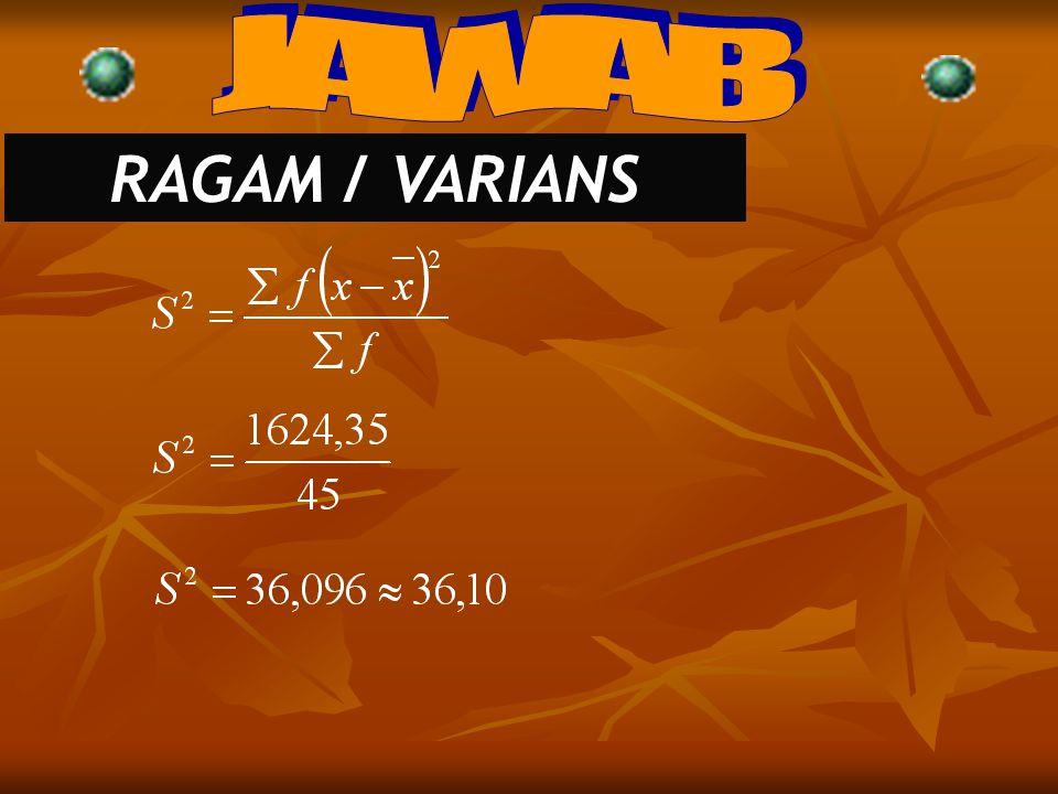 JAWAB RAGAM / VARIANS