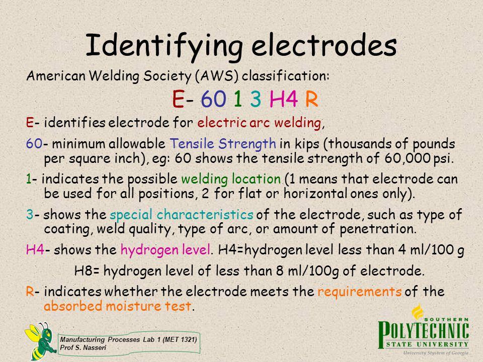 Identifying electrodes