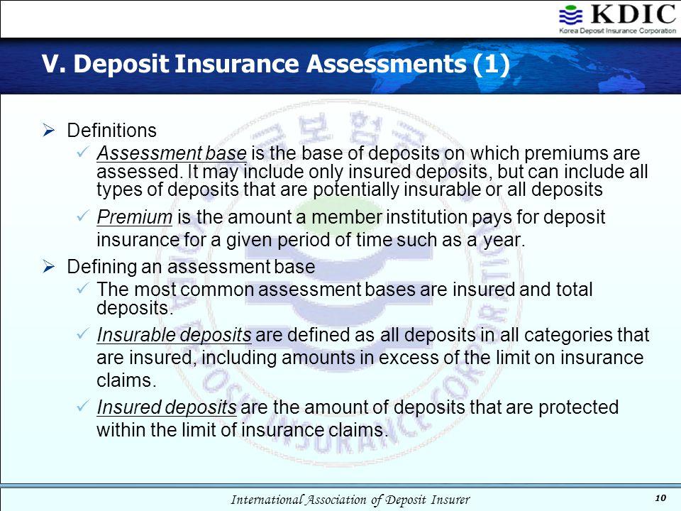 V. Deposit Insurance Assessments (1)