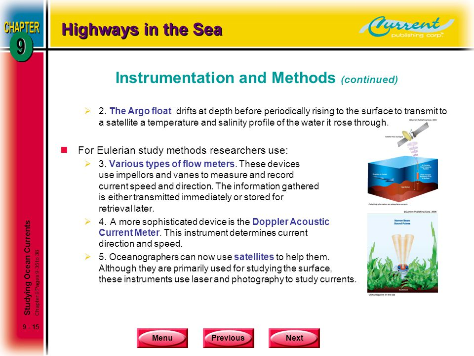 Instrumentation and Methods (continued)