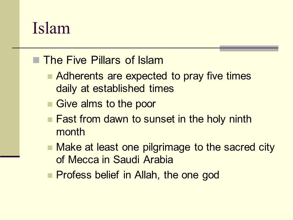 Islam The Five Pillars of Islam