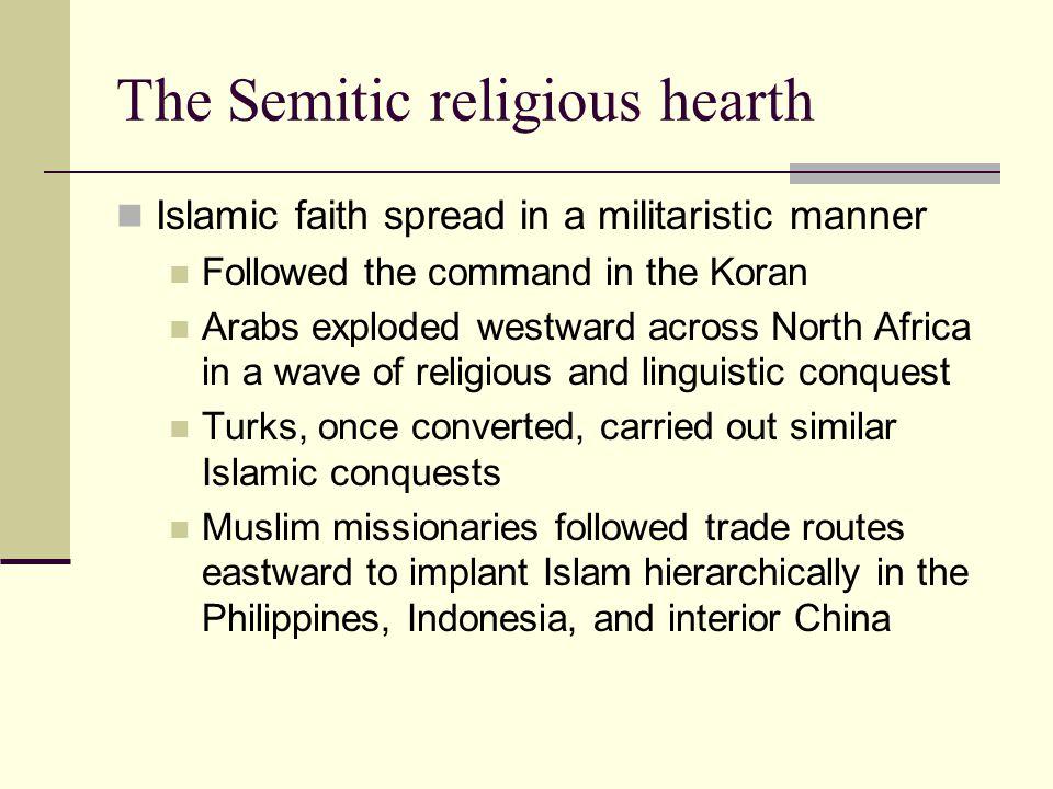 The Semitic religious hearth