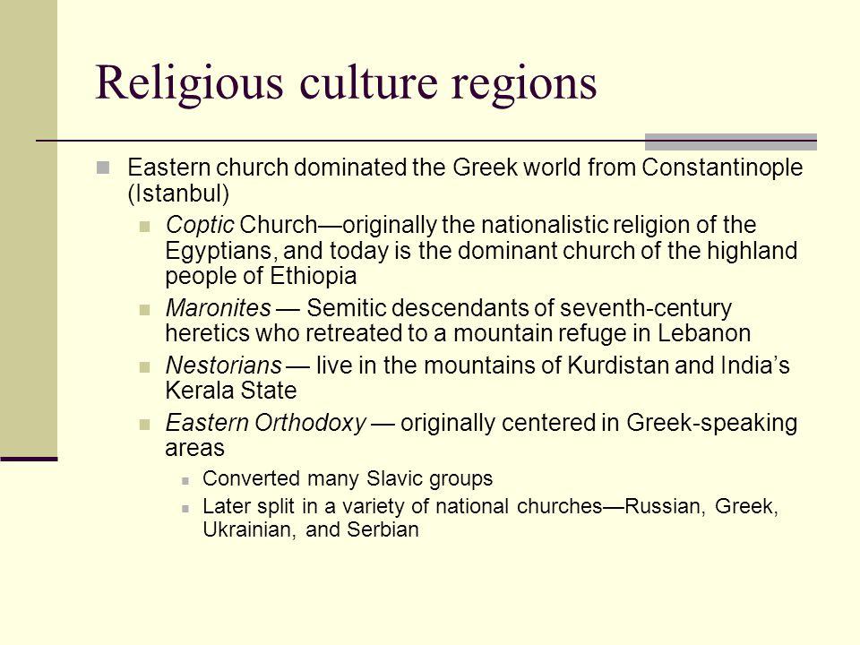 Religious culture regions
