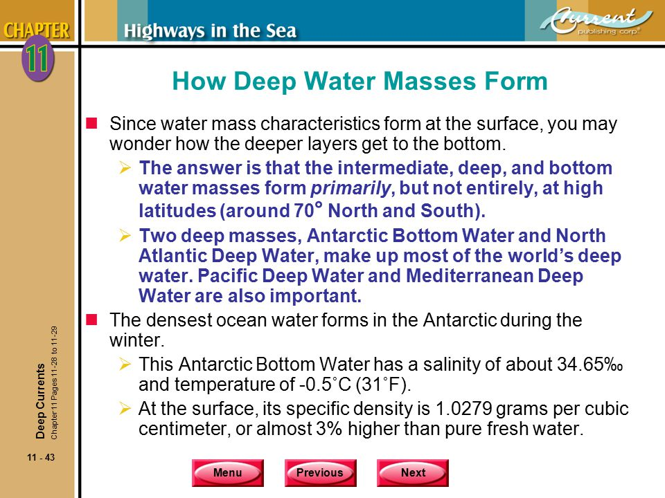 How Deep Water Masses Form