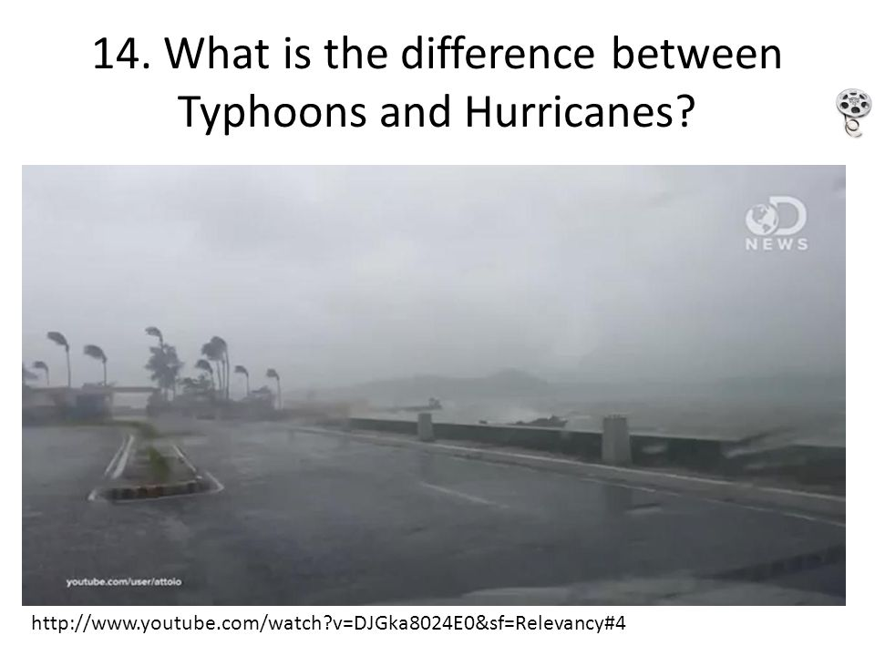 14. What is the difference between Typhoons and Hurricanes