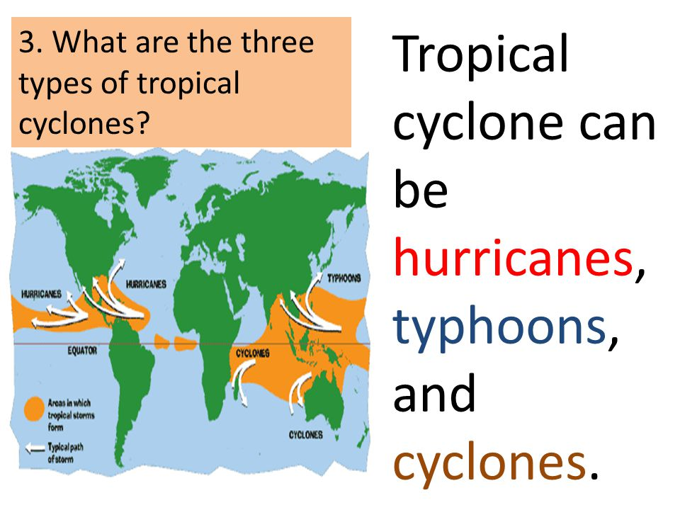 Tropical cyclone can be hurricanes, typhoons, and cyclones.