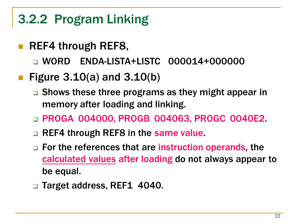 3.2.2 Program Linking REF4 through REF8, Figure 3.10(a) and 3.10(b)