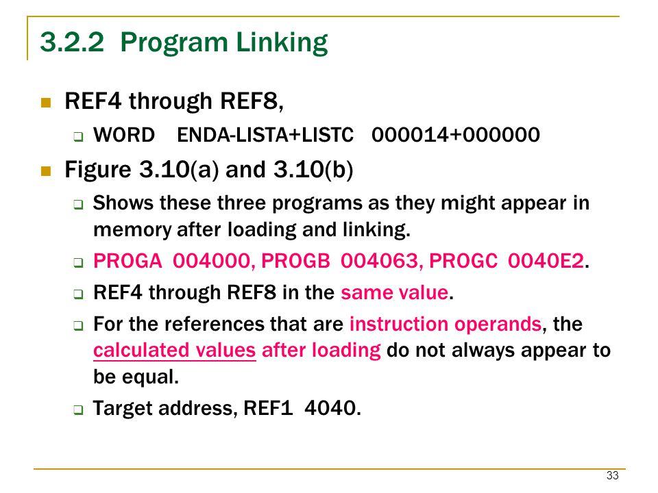 3.2.2 Program Linking REF4 through REF8, Figure 3.10(a) and 3.10(b)