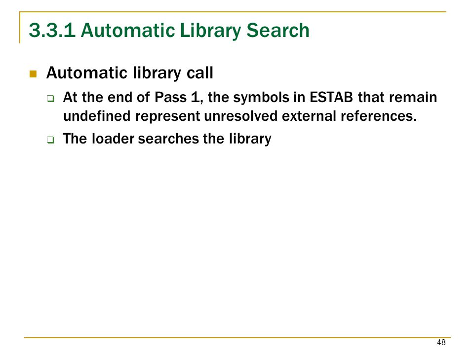 3.3.1 Automatic Library Search