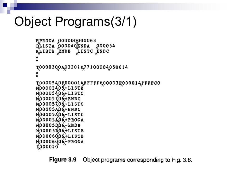 Object Programs(3/1)