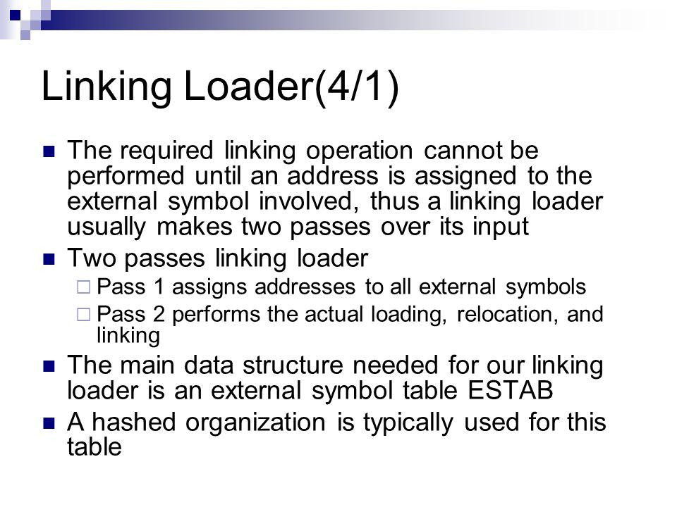 Linking Loader(4/1)