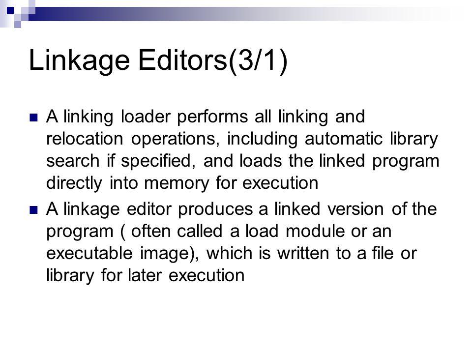 Linkage Editors(3/1)
