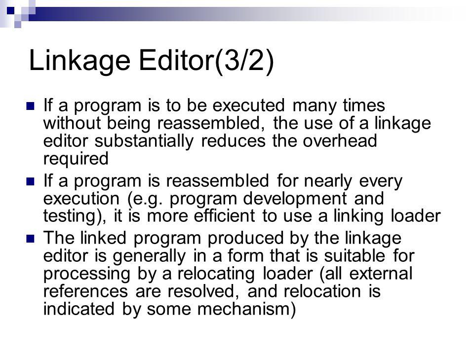 Linkage Editor(3/2)